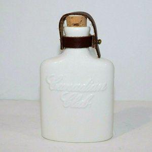 Canadian Club Whiskey Mini Porcelain Flask NEW